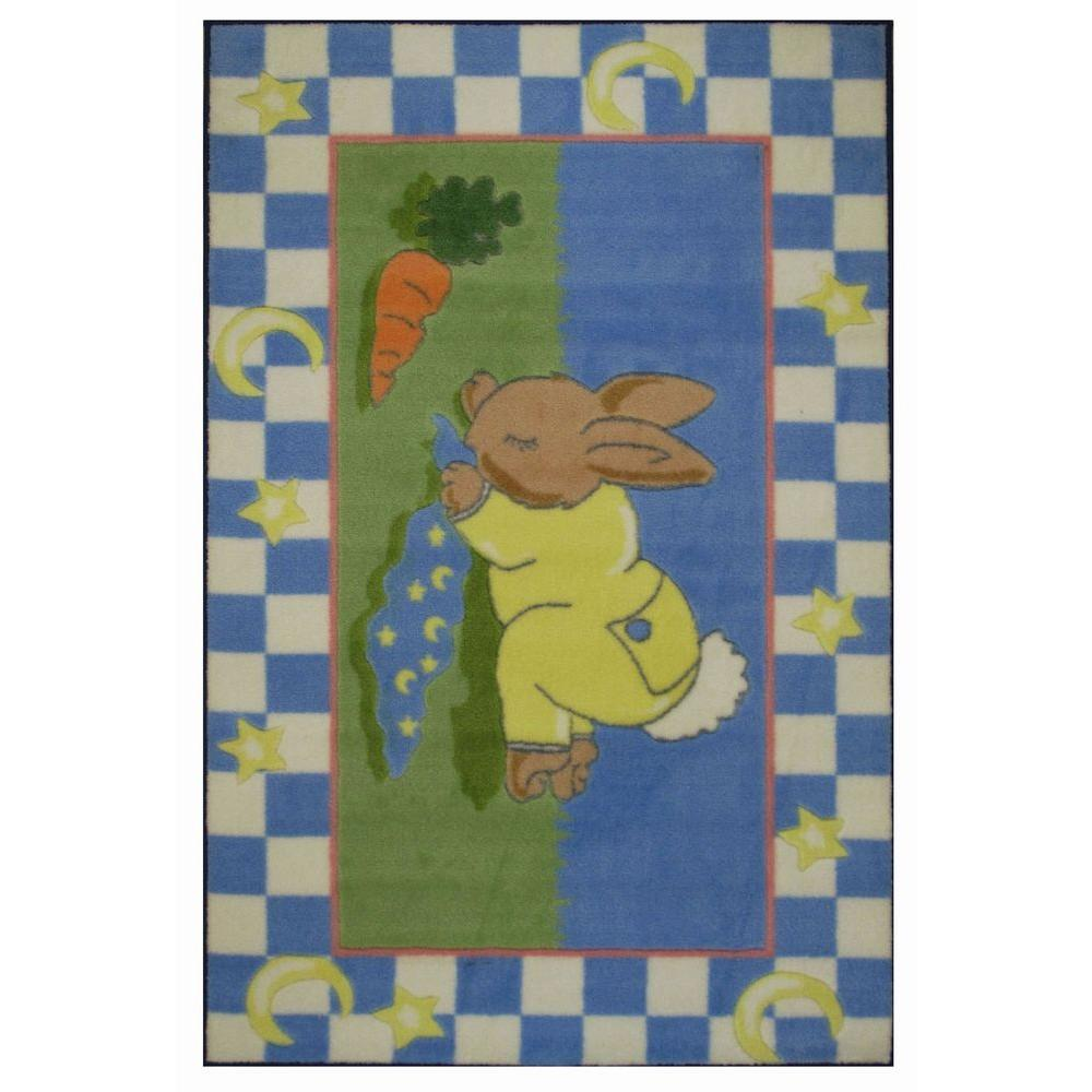 Jade Reynolds Naptime Multi Colored 39 in. x 58 in. Area