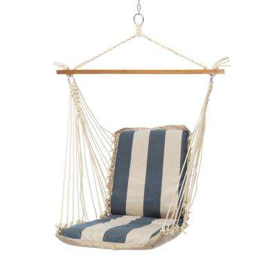 Single Sunbrella Cushioned Hammock Swing in Regency Indigo