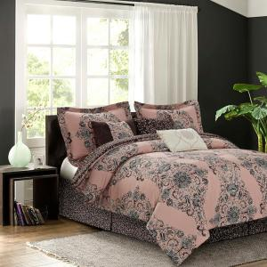 Click here to buy  Bardot Blush 7-Piece King Comforter Set.