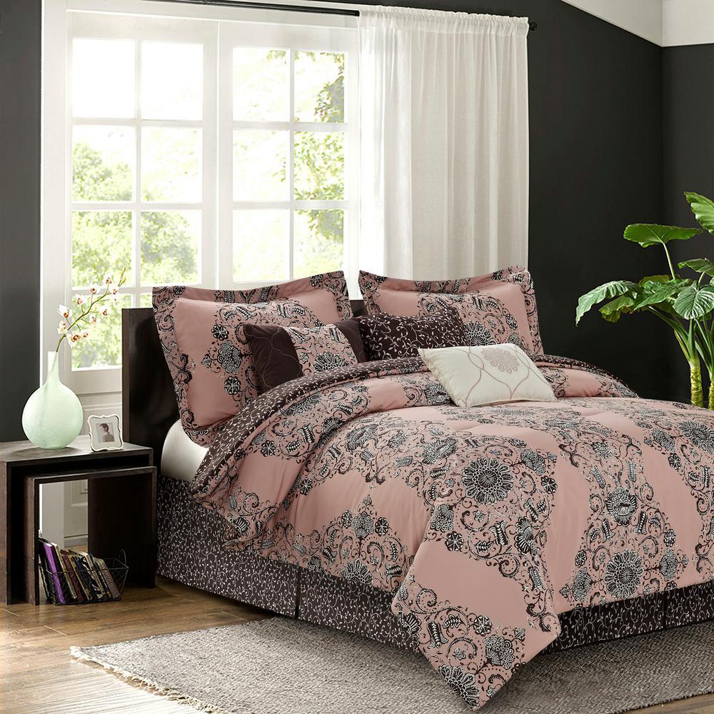 Bardot Blush 7-Piece Queen Comforter Set by