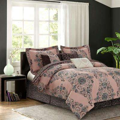 Bardot Blush 7-Piece Queen Comforter Set