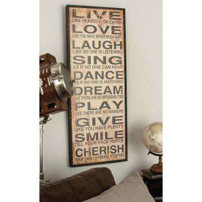 40 in. x 16 in. Inspirational Quote Wall Panel in Distressed MDF