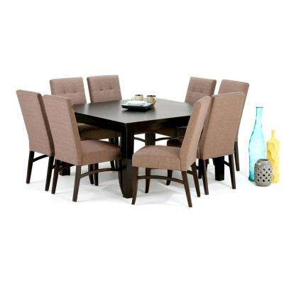 Exceptionnel Ezra 9 Piece Fawn Brown Dining Set