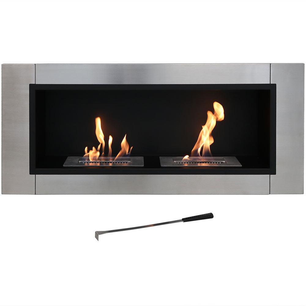 Scalda 19.75 in. Bio-Ethanol Wall-Mounted Indoor Fireplace