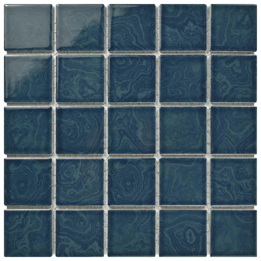 Merola Tile Resort Coral Blue 12 in. x 12 in. x 5 mm Porcelain ...