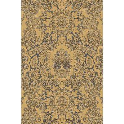 Adaline Collection Majestic Blue 5 ft. x 6 ft. 6 in. Non-Skid Soft Anti-Bacterial Area Rug