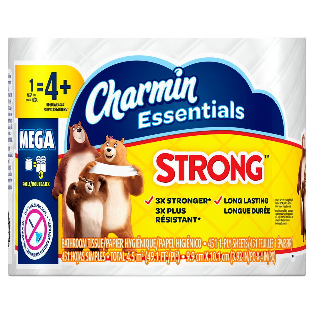 Charmin Essentials Mega Roll Strong Case Of 36 Mega Rolls