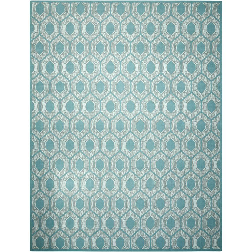 Waverly Bubbly Surf 8 ft. x 11 ft. Indoor/Outdoor Area Rug