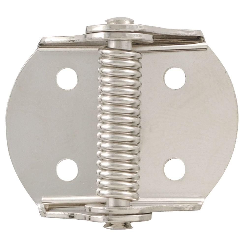 Liberty 1-1/8 in. x 5/8 in. Nickel Plated Spring Hinge (20-Pack)