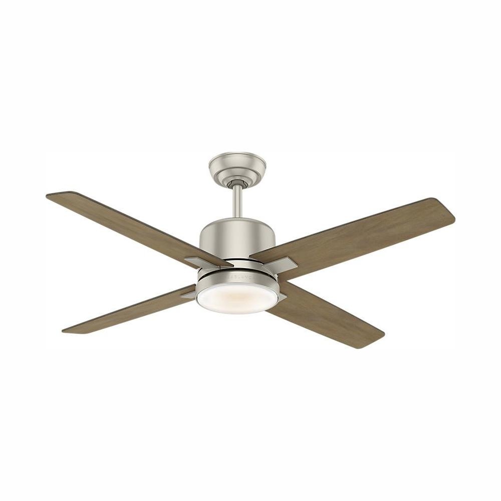 Casablanca Axial 52 in. LED Indoor Matte Nickel Ceiling Fan with Light and Wall Control