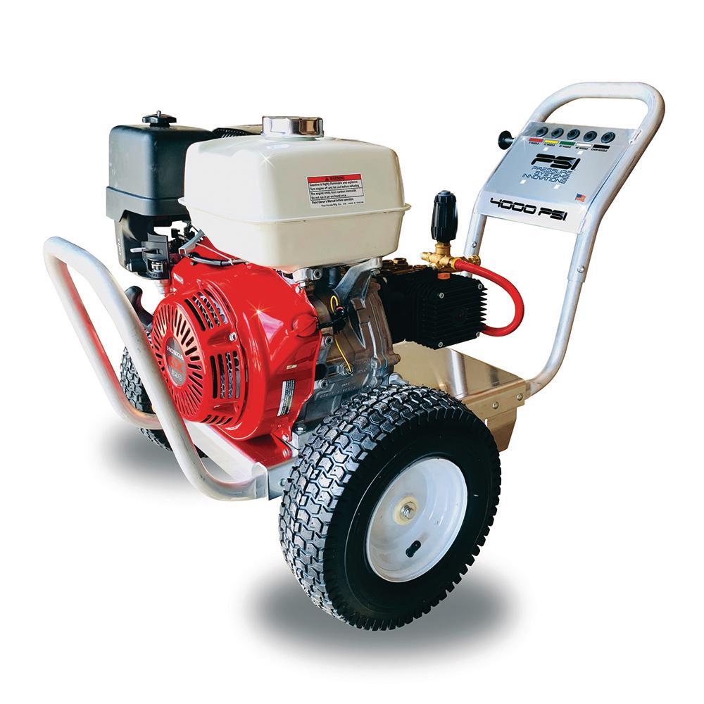 4000 PSI at 4.0 GPM Cold Water Gas Pressure Washer Honda GX390 Comet Triplex Pump Direct Drive