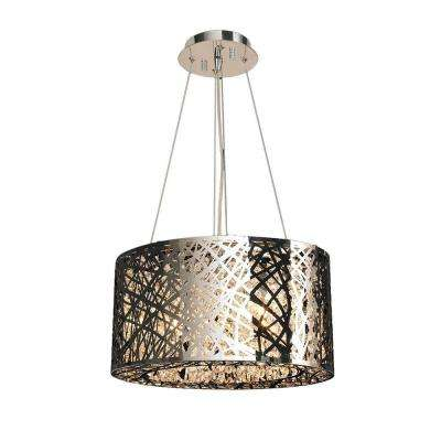 Aramis Collection 9-Light Chrome Crystal Chandelier