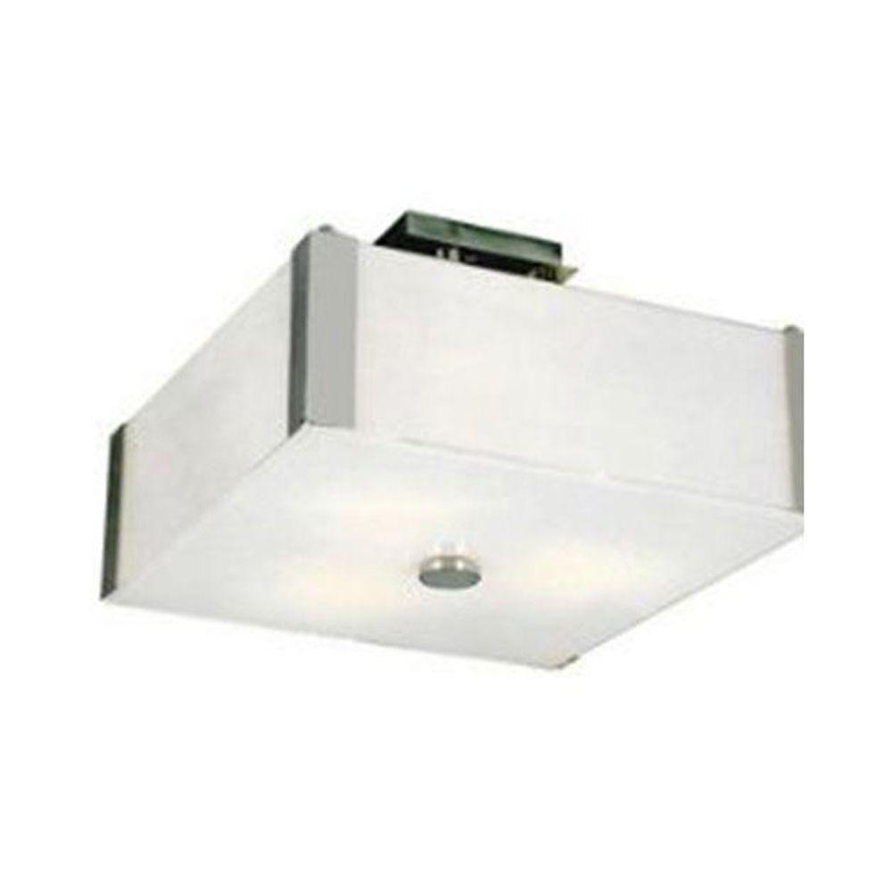 Stewart 3-Light Polished Chrome Incandescent Ceiling Semi-Flush Mount Light