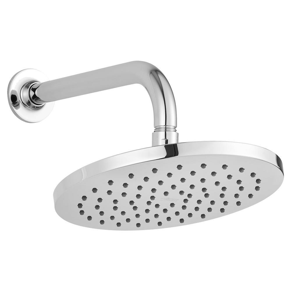 Studio S 1-Spray 8 in. Round Water-Saving Showerhead in Polished Chrome