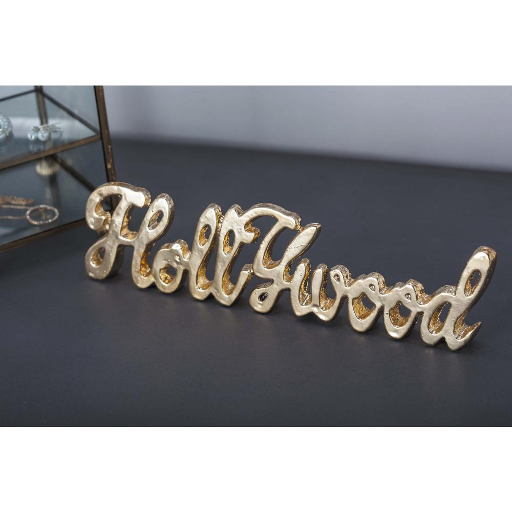 """11 in. x 3 in. Modern """"Hollywood"""" Gold and Silver Aluminum"""