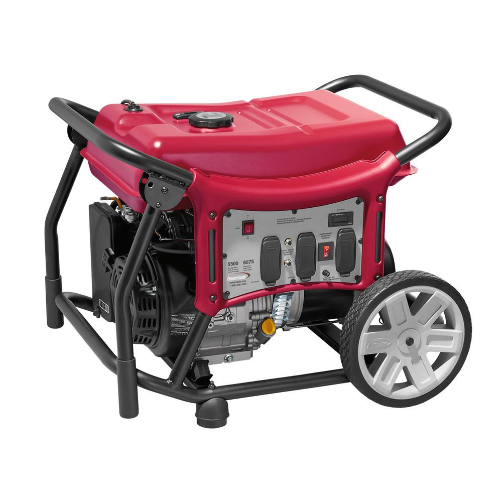 CX 5500-Watt Gasoline Powered Manual Start Portable Generator with Power Mate