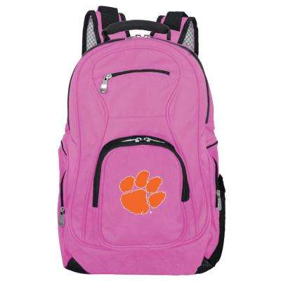 NCAA Clemson Tigers 19 in. Pink Backpack Laptop