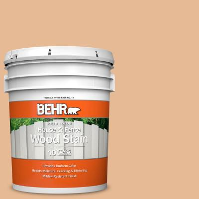 Behr 5 Gal 280c 3 Fresh Praline Solid Color House And Fence Exterior Wood Stain 01105 The Home Depot