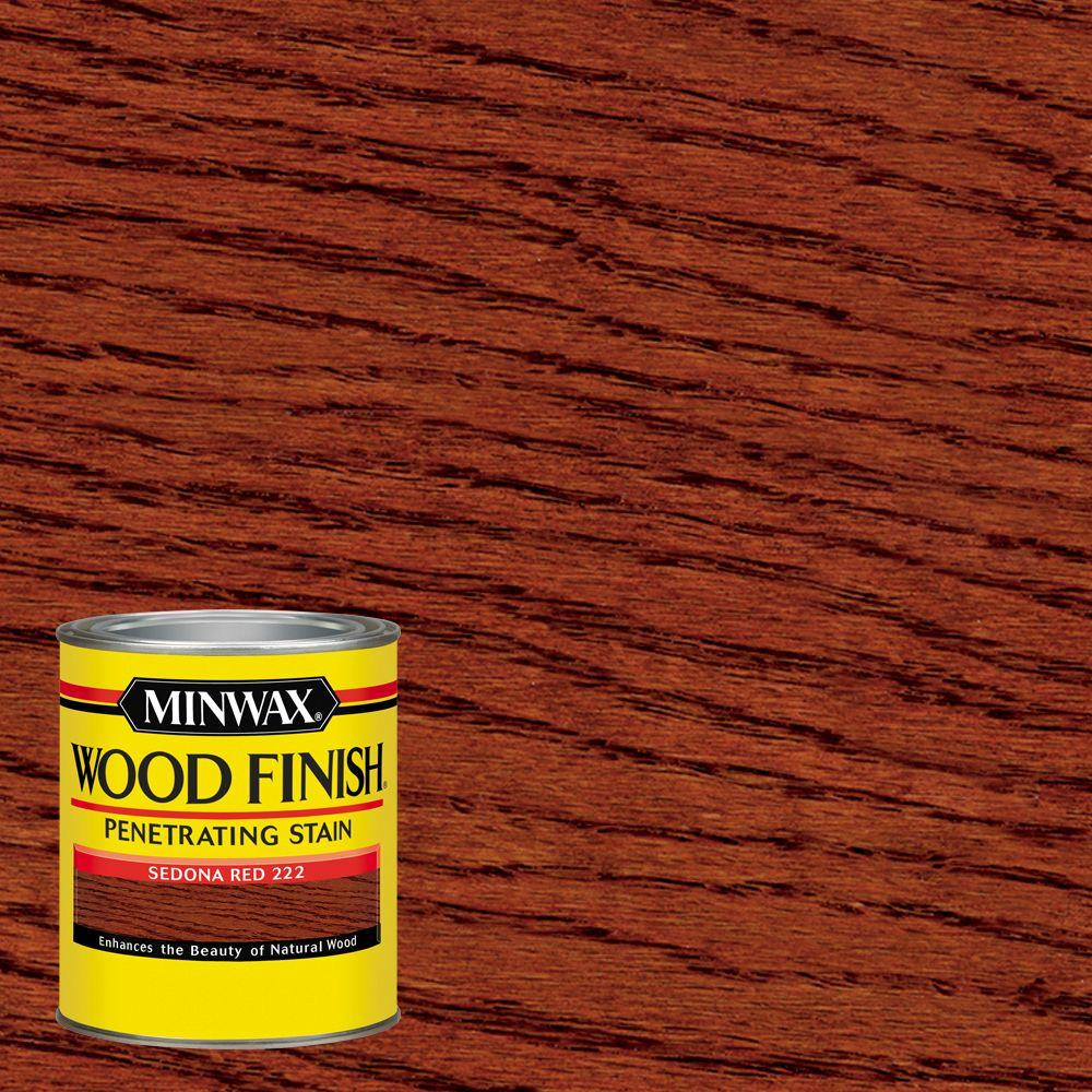 1 qt. Wood Finish Sedona Red Oil Based Interior Stain