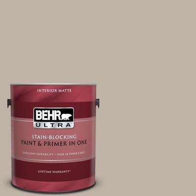1 gal. #N220-3 Smokestack Matte Interior Paint and Primer in One