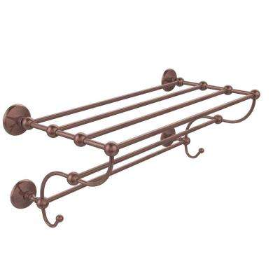 Prestige Monte Carlo Collection 24 in. Train Rack Towel Shelf in Antique Copper
