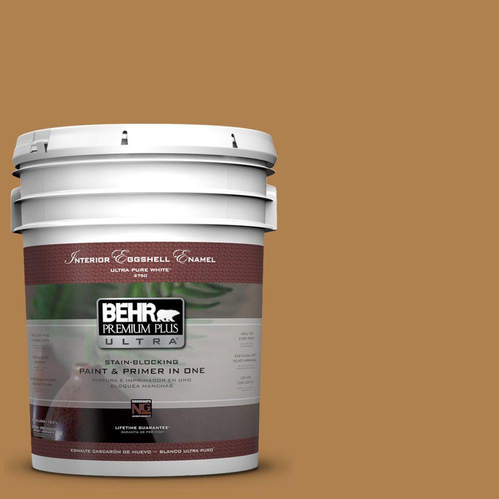 BEHR Premium Plus Ultra 5-gal. #UL160-2 Gold Plated Eggshell Enamel Interior Paint