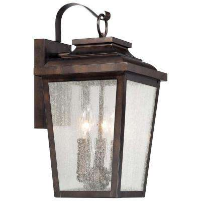 Irvington Manor 3-Light Chelsea Bronze Outdoor Wall Mount