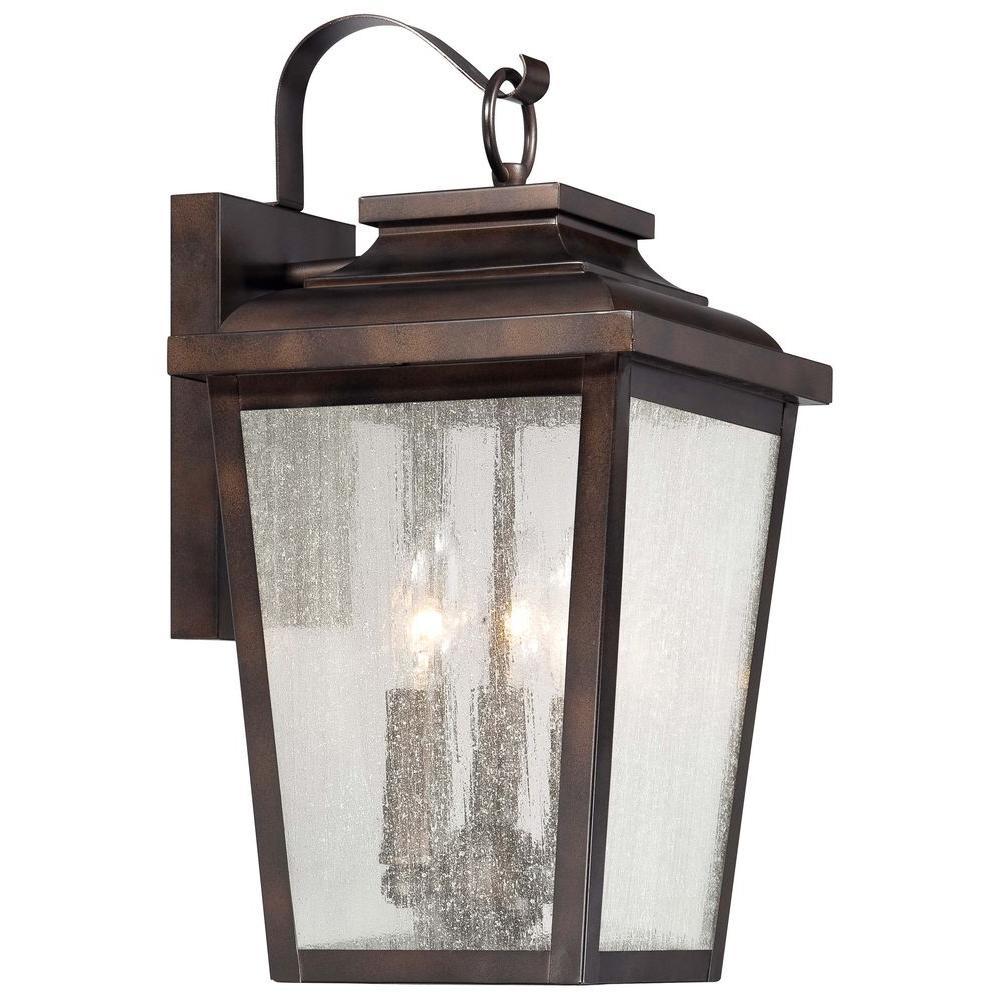 Irvington Manor 3-Light Chelsea Bronze Outdoor Wall Lantern Sconce