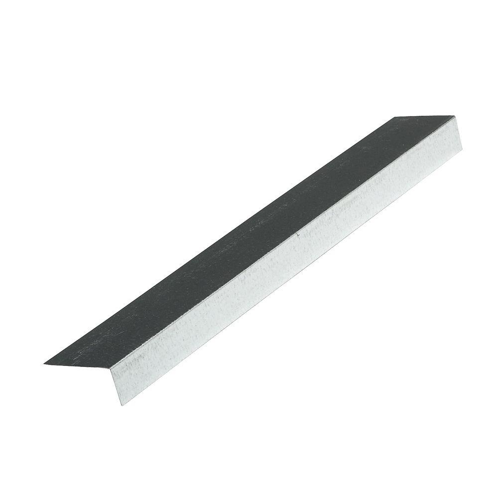 2 in. x 2 in. x 10 ft. Galvanized Steel 26 Gauge Roof Edge Flashing in White
