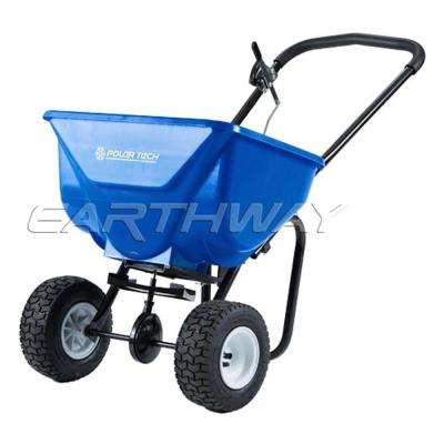 50 lbs. Ice Melt Push Spreader with 9 in. Pneumatic Tire