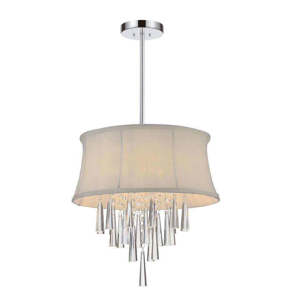 CWI Lighting Audrey 4 Light Chrome Chandelier with