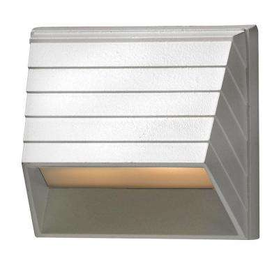Low-Voltage 7-Watt Matte White Square Deck Sconce