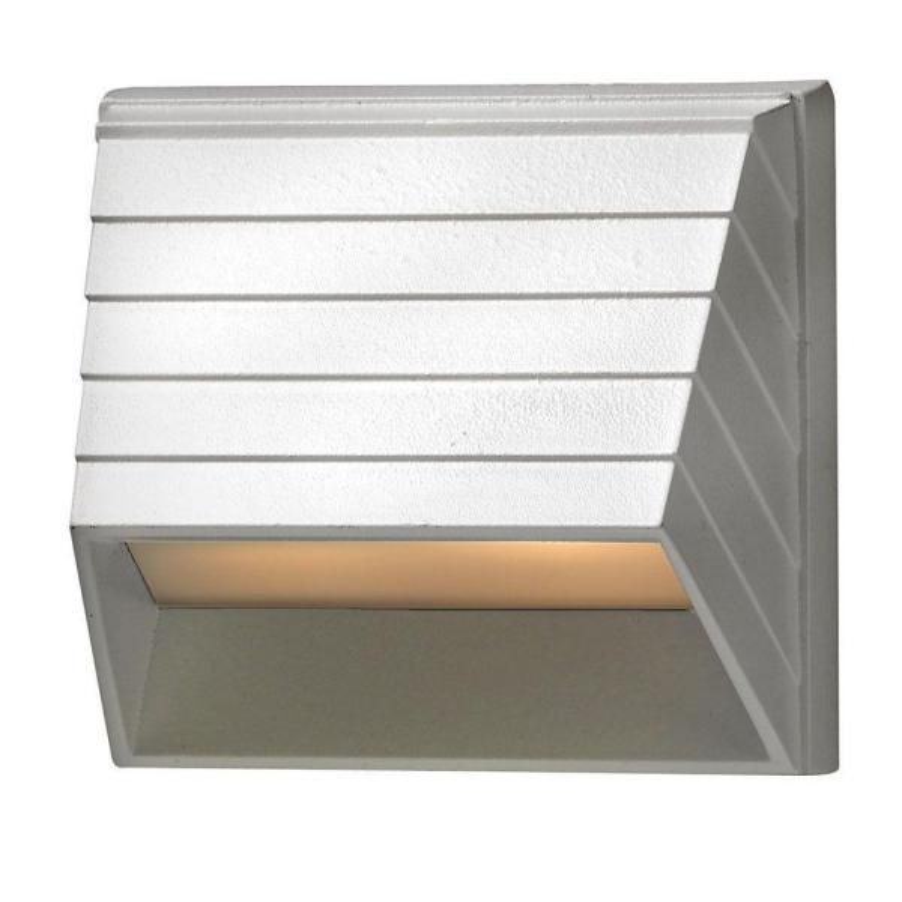 Low-Voltage 7-Watt Matte White Square Deck Sconce