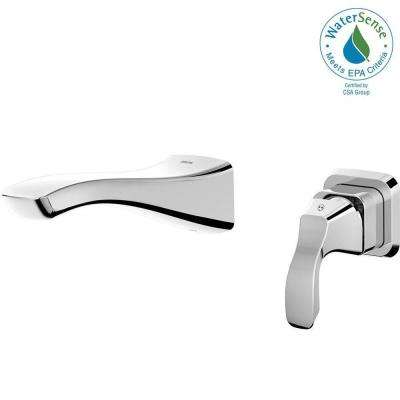 Tesla Single Handle Wall Mount Bathroom Faucet Trim Kit In Chrome (Valve  Not Included