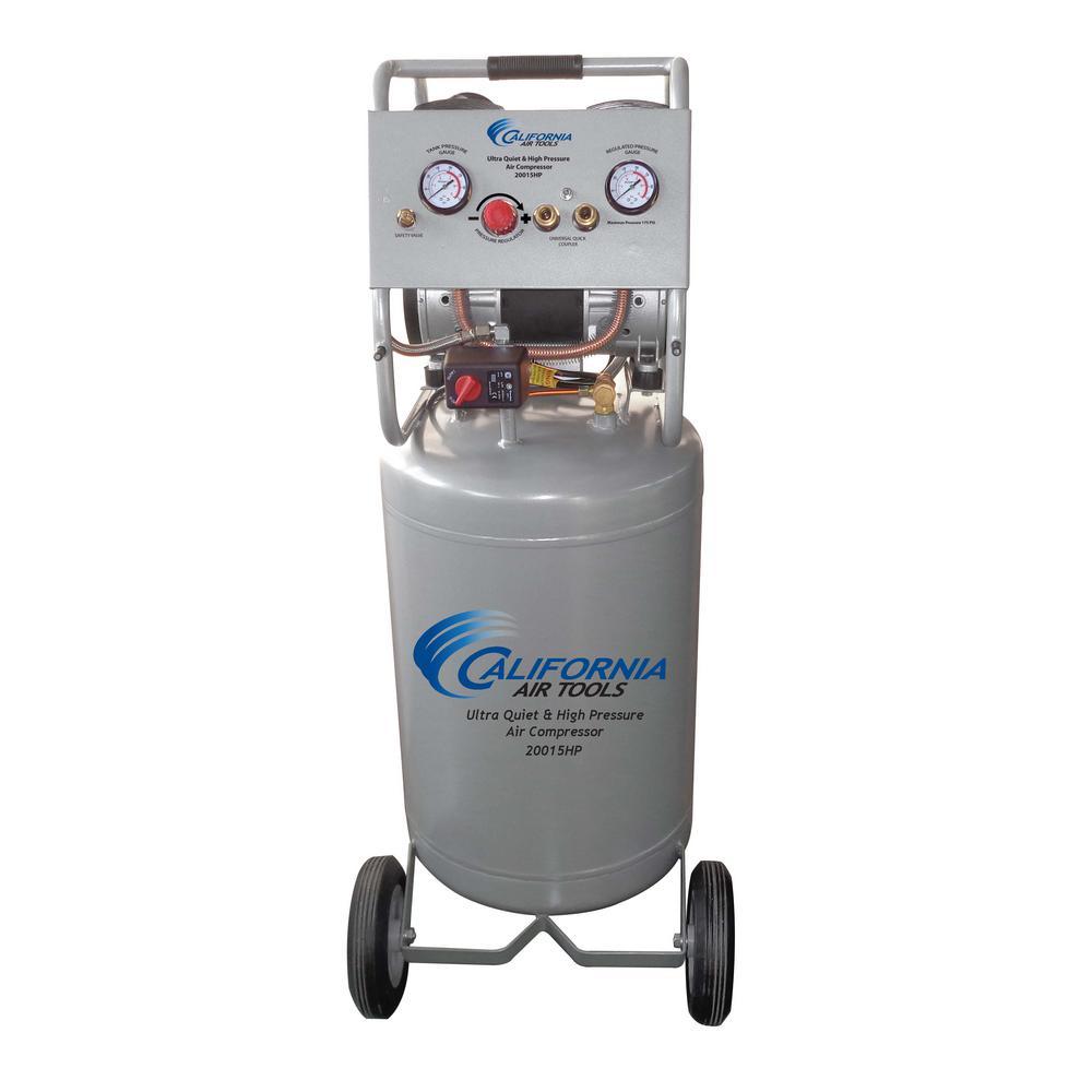 California Air Tools California Air Tools 20 Gal. 1.5 HP Ultra Quiet High Pressure Electric Air Compressor with Auto Drain Valve