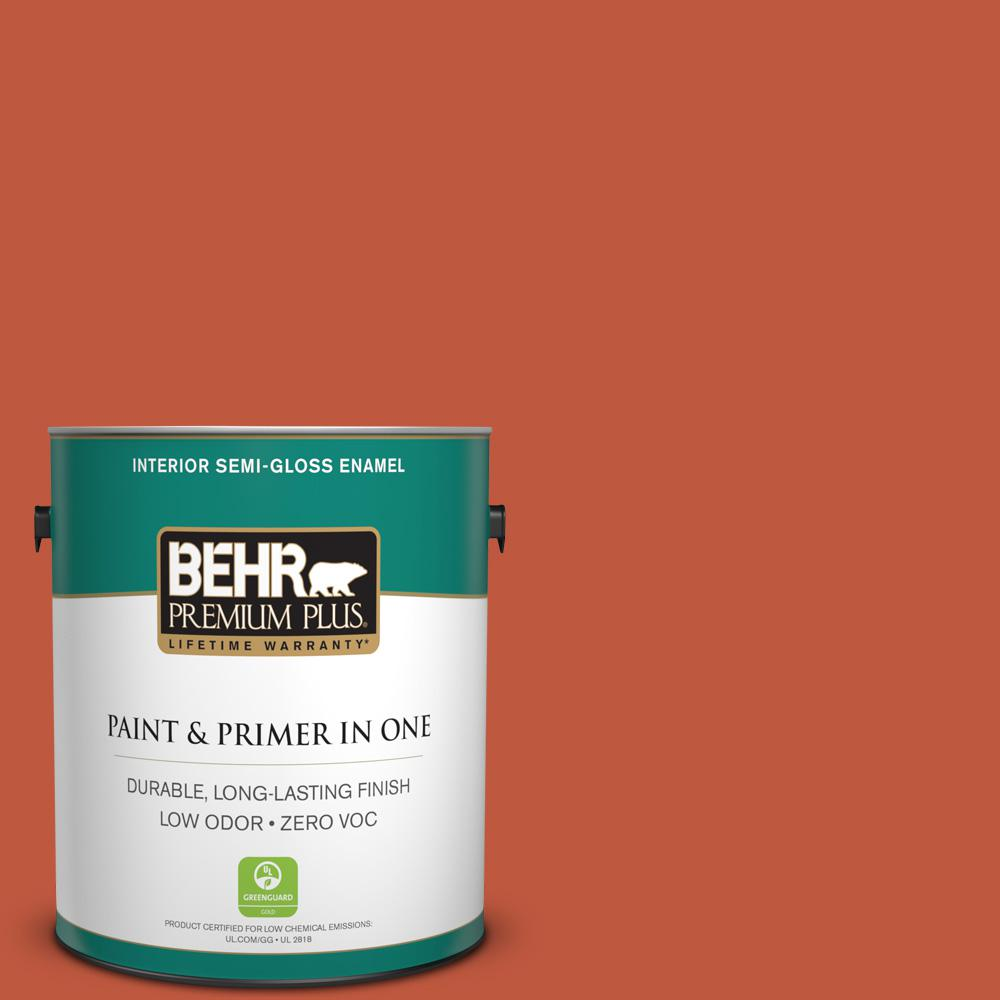1-gal. #M180-7 Deep Fire Semi-Gloss Enamel Interior Paint