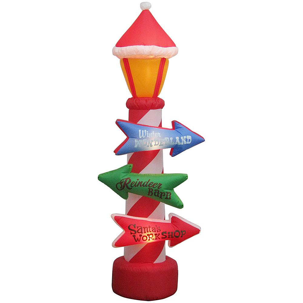 Home Accents Holiday 8 ft. Inflatable Stacking Signs Airblown-88594 ...