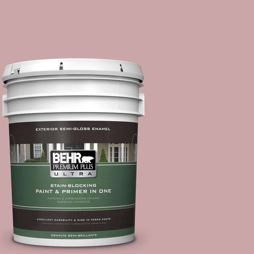 BEHR Premium Plus Ultra 5-gal. #140E-3 Rose Bisque Semi-Gloss Enamel Exterior Paint