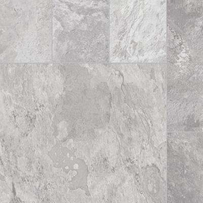 Take Home Sample Quarry Stone Slate Grey Vinyl Sheet - 6 in. x 9 in.