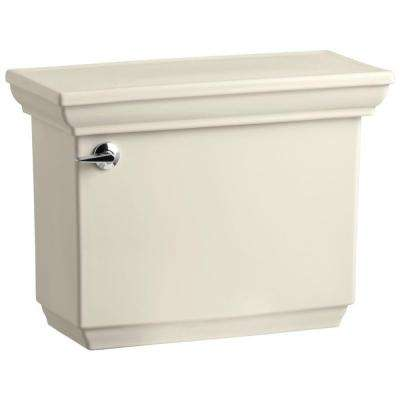 Memoirs Comfort Height 1.6 GPF Single Flush Toilet Tank Only with AquaPiston Flush Technology in Almond