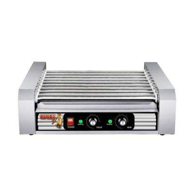 Commercial 1170-Watts 24-Hot Dog 9-Roller Grilling Machine
