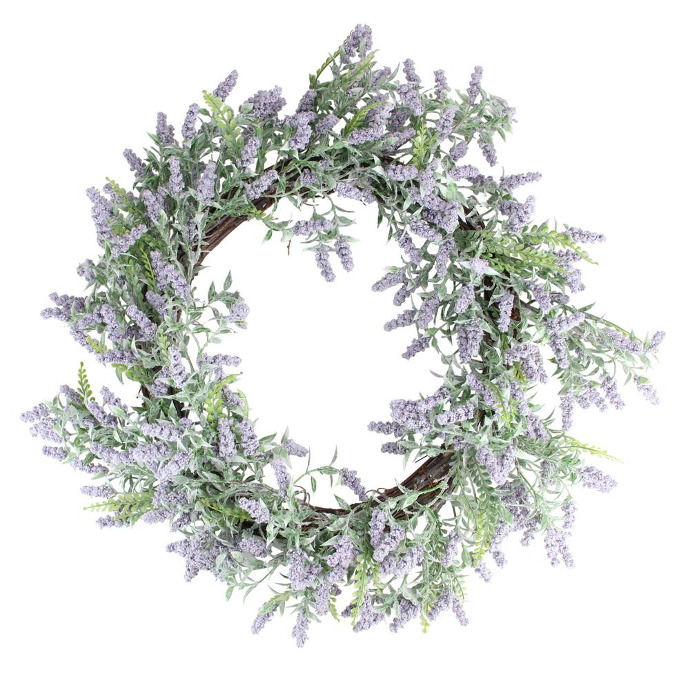 Northlight 22 in. Purple and Green Springtime Lavender Wreath