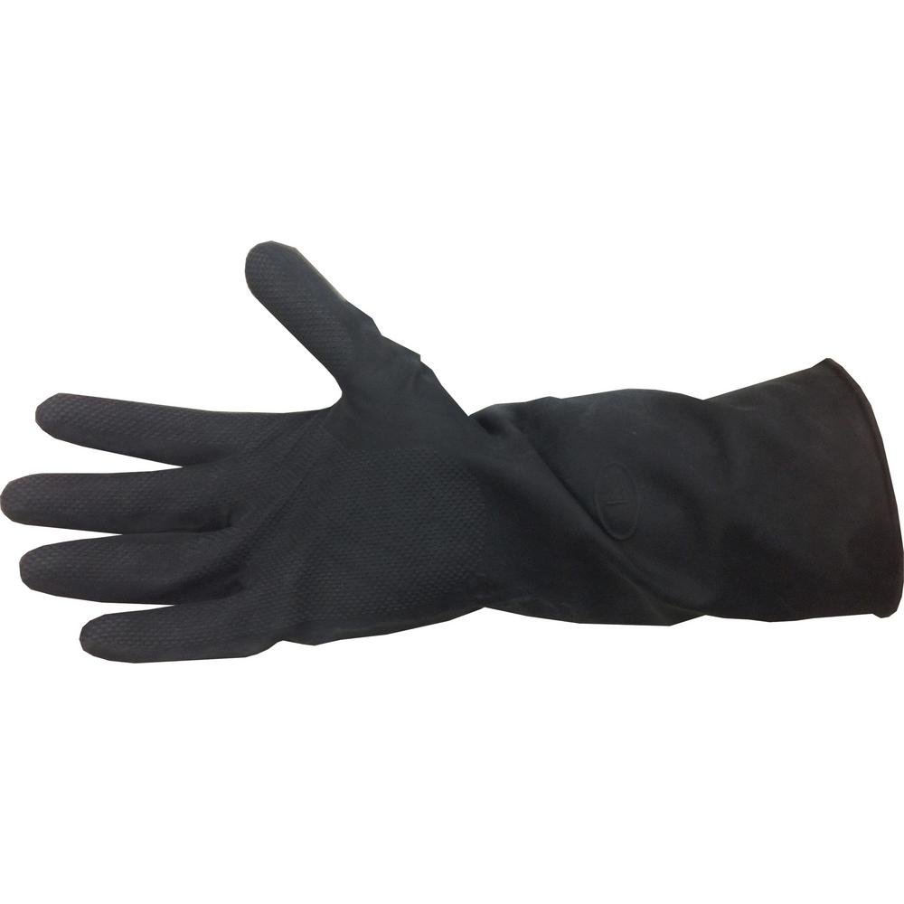 HDX Black Neoprene Long Cuff Gloves (One Size Fits All)