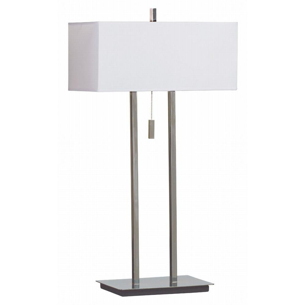 Emilio 29 in. Chrome Table Lamp