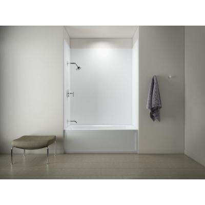 Archer 5 ft. Left Drain Tub with Choreograph 72 in. 5-Piece Bath/Shower Wall Surround in White