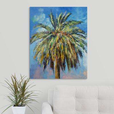 """24 in. x 30 in. """"Canary Island Date Palm"""" by  Michael Creese Canvas Wall Art"""