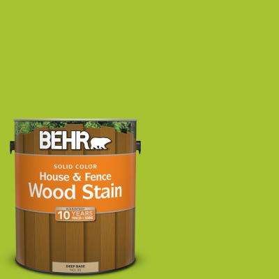 1 gal. #S-G-410 Green Crush Solid Color House and Fence Exterior Wood Stain