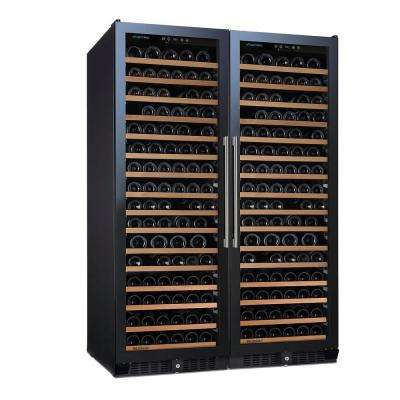 N'FINITY PRO Double L RED 166-Bottle 47.5 in. Wine Cellar