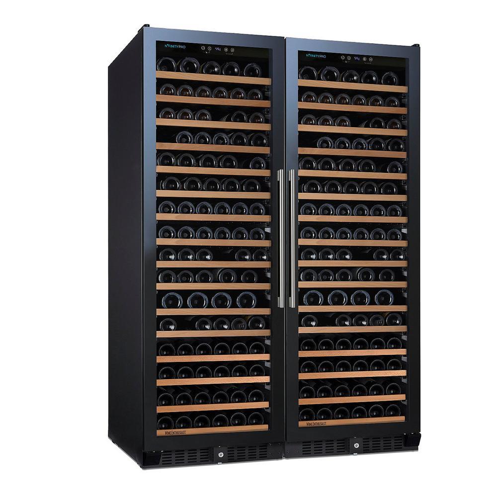 N'FINITY PRO Double L RED 166-Bottle 47.5 in. Freestanding Wine Cellar
