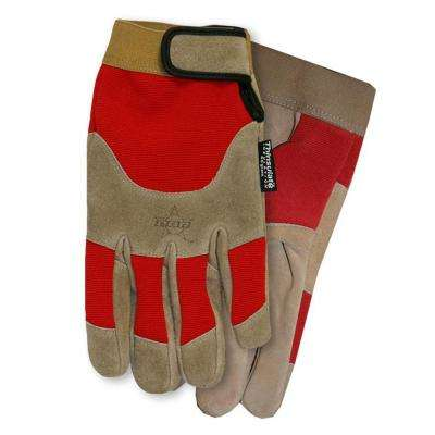 Red PBR Suede Lined Glove